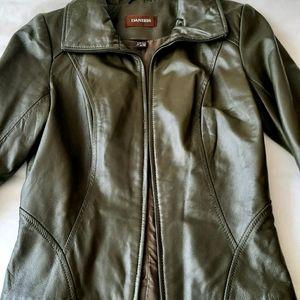 Danier Leather Jacket Olive Green